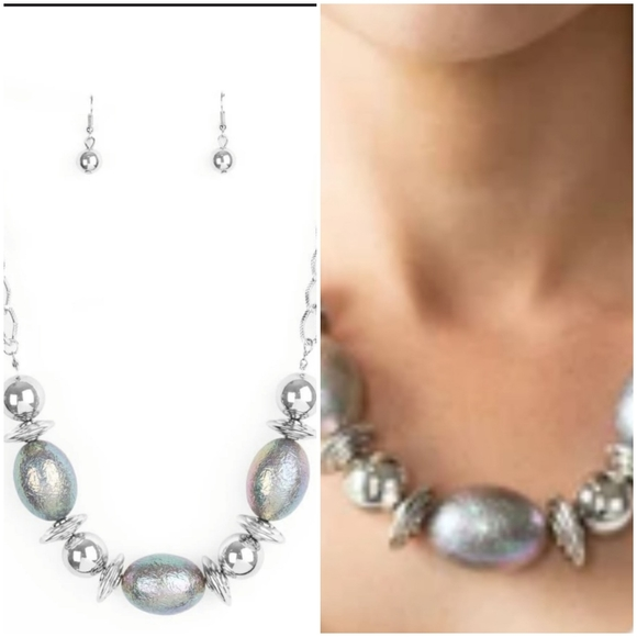 WELCOME TO THE BIG LEAGUES SILVER NECKLACE/EARRING